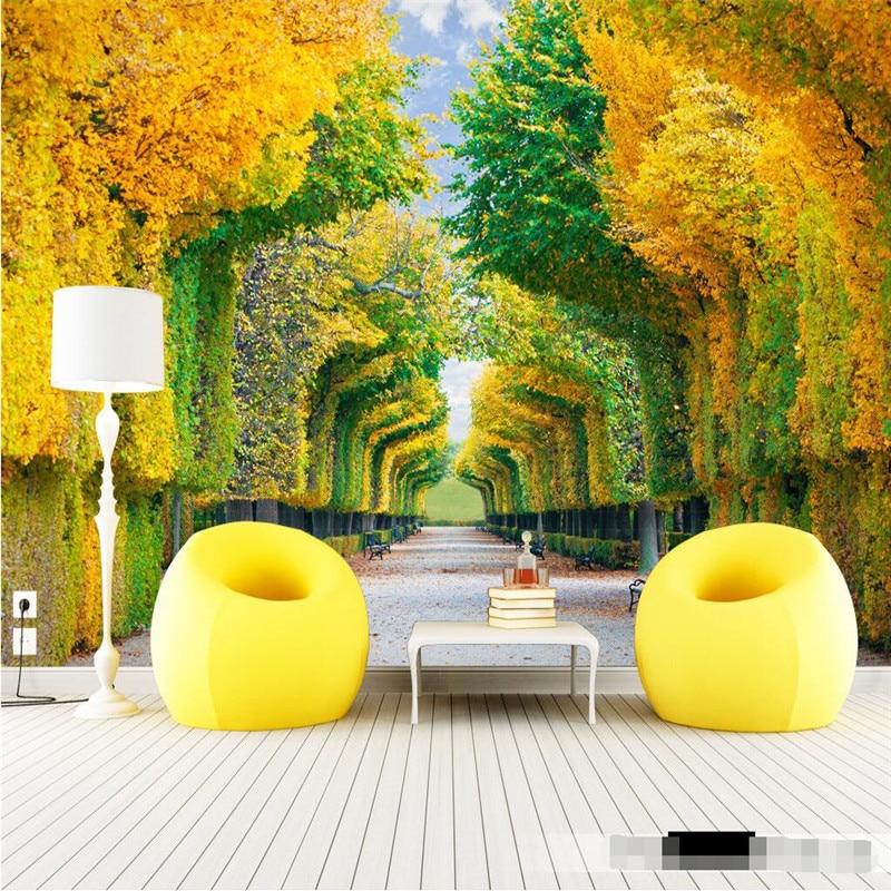 Buy Home Decor Photo Backdrops Wallpaper For Living Room Nature Trees Maple