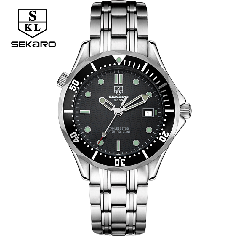 New sekaro watches men automatic mechanical watch calendar 30m waterproof fashion business men watch top brand classic watches