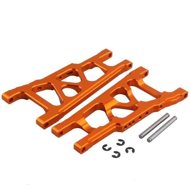 For 1/10 Traxxas Slash 4x4 Aluminum Front / Rear Suspension Left & Right A Arms Stampede Upgrade Parts of 3655x XO-1 w/TSM