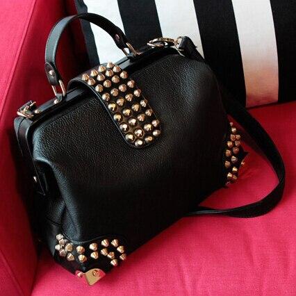 2957b143fe3a3 Nuevo Retro Vintage Mujer de la PU bolso de cuero de moda Bolsos de hombro  Negro Bolsa de mensajero Cross Body Bag envío gratis