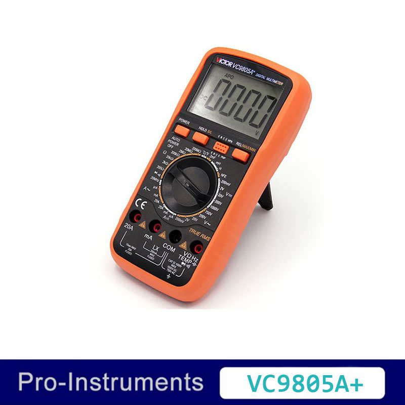 Victor VC9805A+ True RMS 2000 Counts Manual Range  Resistance Capacitance Inductance Frequency Temperature  Digital Multimeter nflc victor digital multimeter 20a 1000v resistance capacitance inductance temp vc9805a