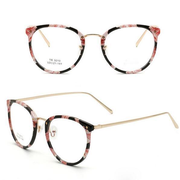 2d3c702b498a9 Novos Oculos de grau Ultra Light TR90 Armações de Óculos Para As Mulheres  Retro Armações de