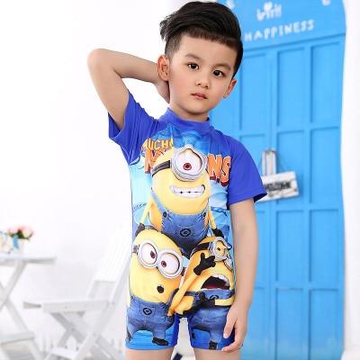 children s swimwear Despicable Me Boys children bathing suit Minion Boyleg Swimsuit Kids Swimwear font b