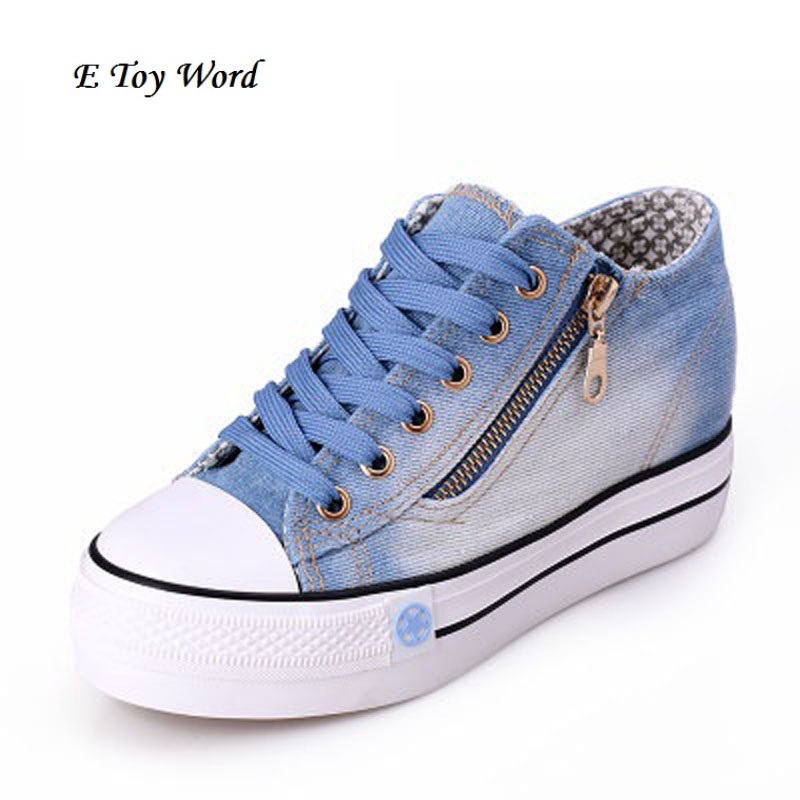 2017 canvas shoes cowboy shoes a pedal lazy shoes students shoes heavy-bottomed shoes to help low tide Korean version стоимость