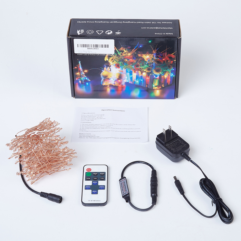 Led String Fairy Lights 200 LED hecho punto 4M / 12Ft Remote Dimmable - Iluminación de vacaciones - foto 3