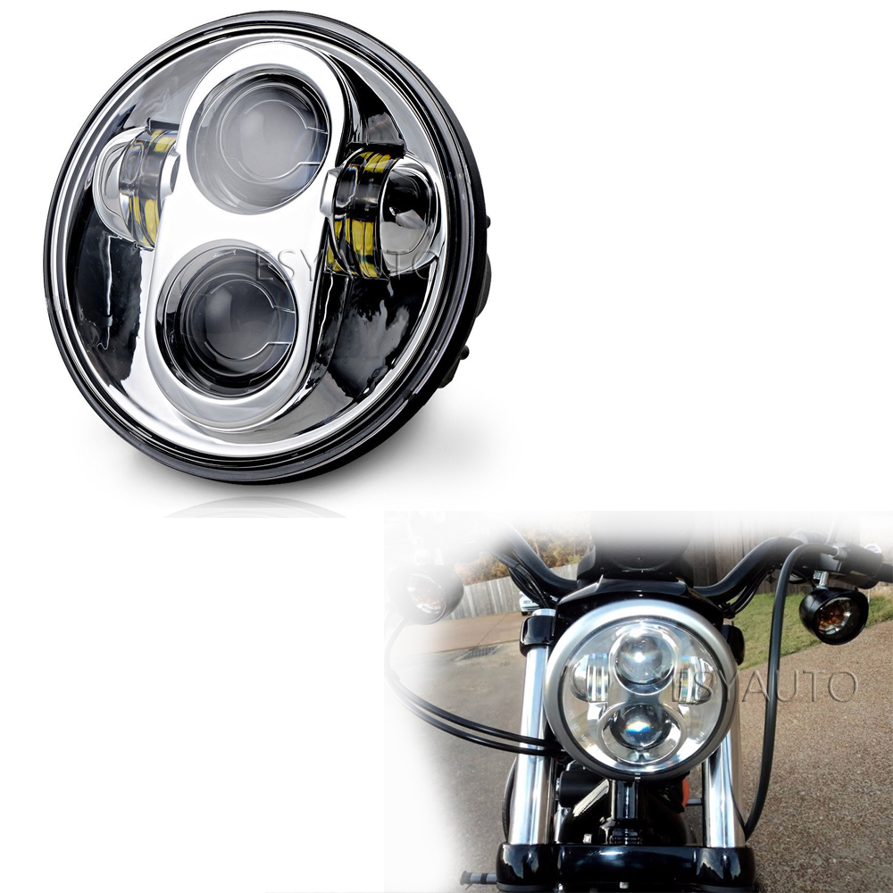 New 40W 5.75 Inch LED Motorcycle headlight Projector Daymaker Hi/Lo LED Light Bulb Headlight For Harley Davidson