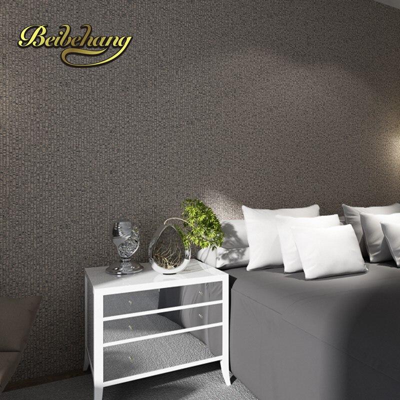 Beibehang plaine classique argent gris rayures verticales papier peint texturé papier peint en relief pour décoration de chambre papier de parede - 3