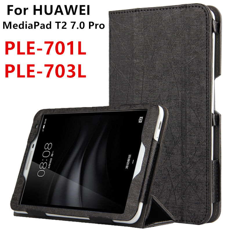 Case For Huawei Mediapad T2 7.0 Pro Protective Smart Cover Faux Leather Tablet For HUAWEI Youth PLE-701L PLE-703L PU Protector