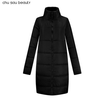 2018 Fashion Wadded jacket Female Coat Wome  cotton clothing Long sleeve Coat Winter Jackets Casual winter coat women