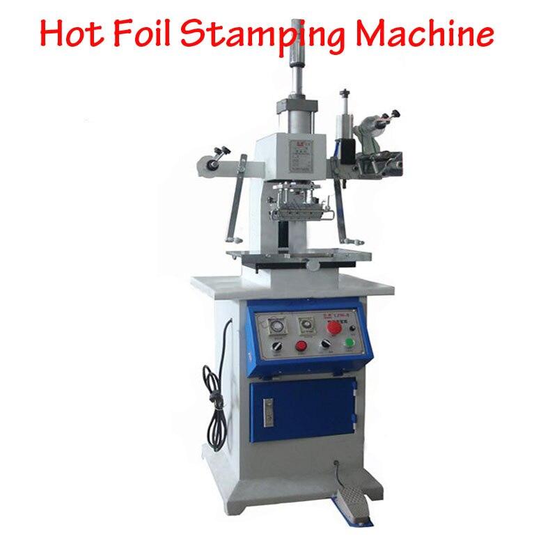 Desktop Pneumatic Bronzing Machine 120*90mm Hot Foil Stamping Machine Card Leather Stamping Machine LZ-90-B цены