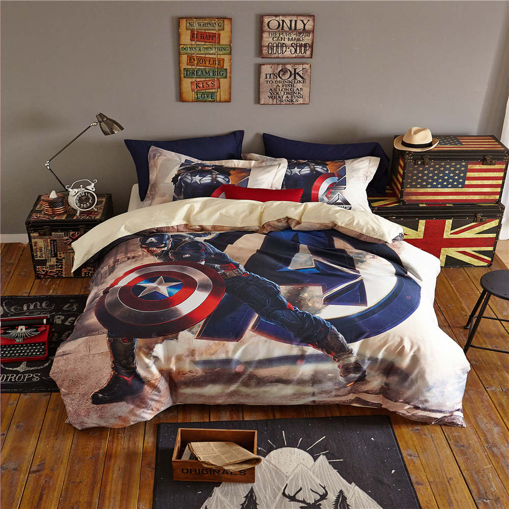 Avengers bedding set twin - Captain America The First Avenger 3d Printed Bedding Set Bedspread Comforter Duvet Covers Single Twin