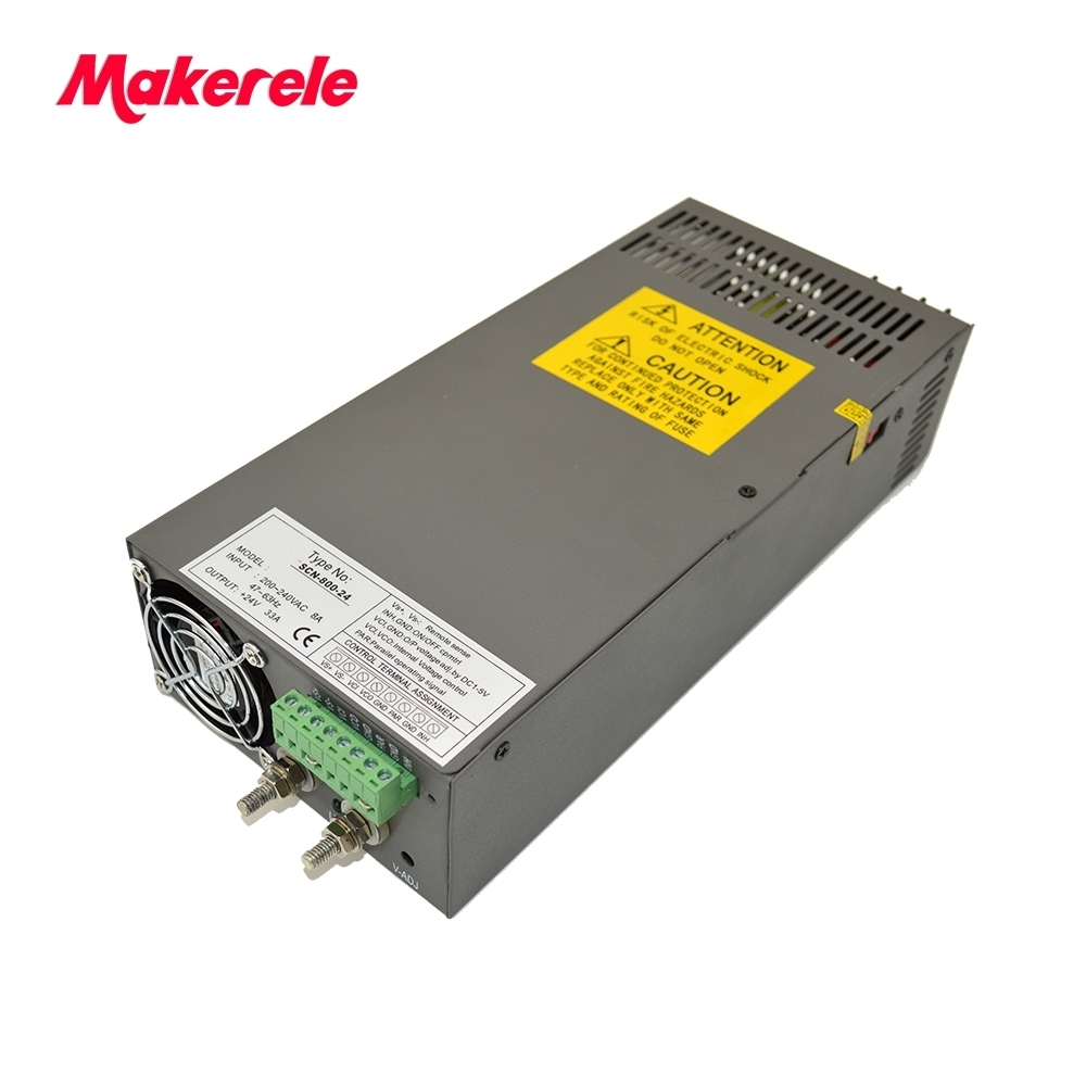 high watts high quality switching power supply CE safe package 800w from makerele china factory SCN-800-12/24/48