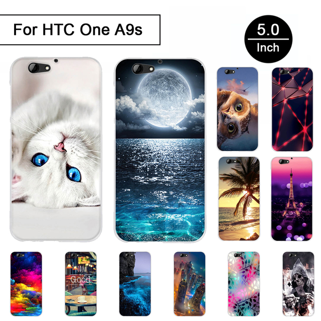 Painted TPU Case For HTC One A9s Back Protection Phone Cover For HTC One A9s Priting Pattern Cases Soft Silicon Cartoon Shells