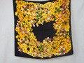 [25% OFF] 204044 4 cores Elegante envoltório das Mulheres de seda Pura grande Lenço De Seda Quadrado, 100% quadrado De Seda lenços de seda de alta qualidade