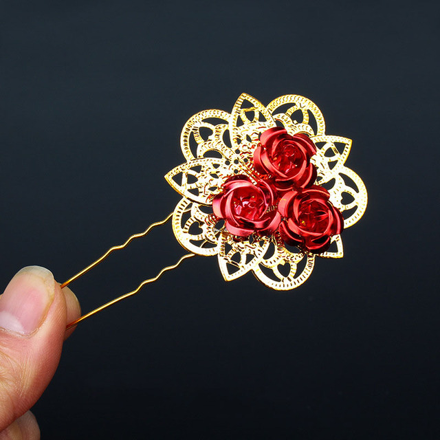 1PC Flower Hair Sticks...