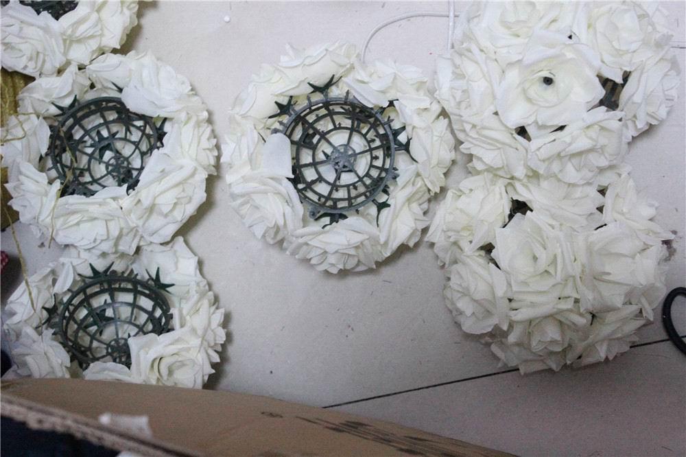 SPR 15 cm ivoor Elegante Kunstzijde Krimpen Rose Bloem Bal Opknoping - Feestversiering en feestartikelen - Foto 3