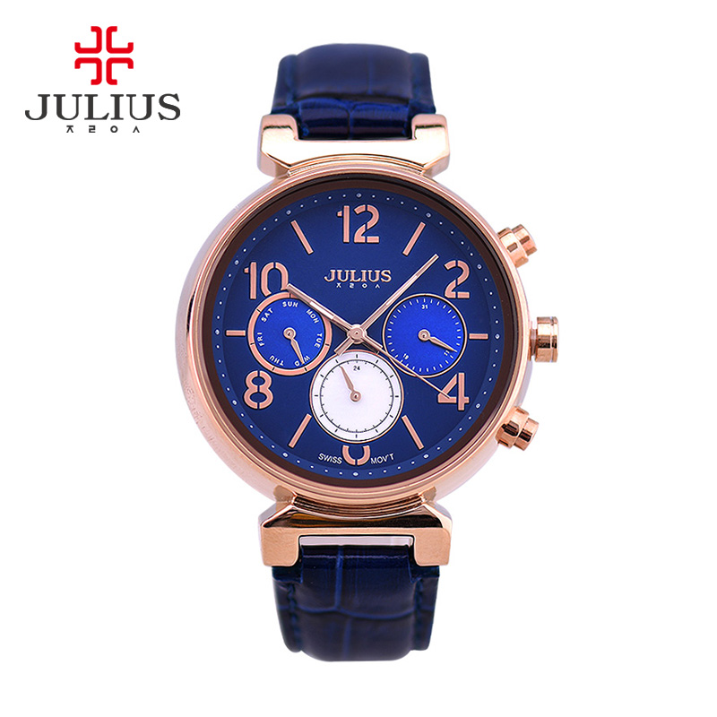 Julius Women s Lady Wrist Watch Swis Quartz Hours Best Fashion Dress Bracelet Shell Sport Leather