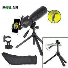 лучшая цена 20-60x80 Angled Spotting Scope With Adjustable Tripod& Phone Adapter Waterproof Monocular Telescope For Target Shooting Hunting