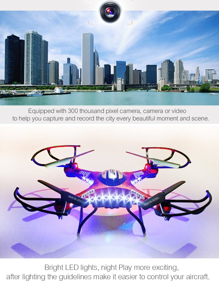 LeadingStar H8D 2.4Ghz 5.8G FPV RC Quadcopter with 2MP Camera FPV Monitor Display RTF RC helicopter Headless Mode LED Light