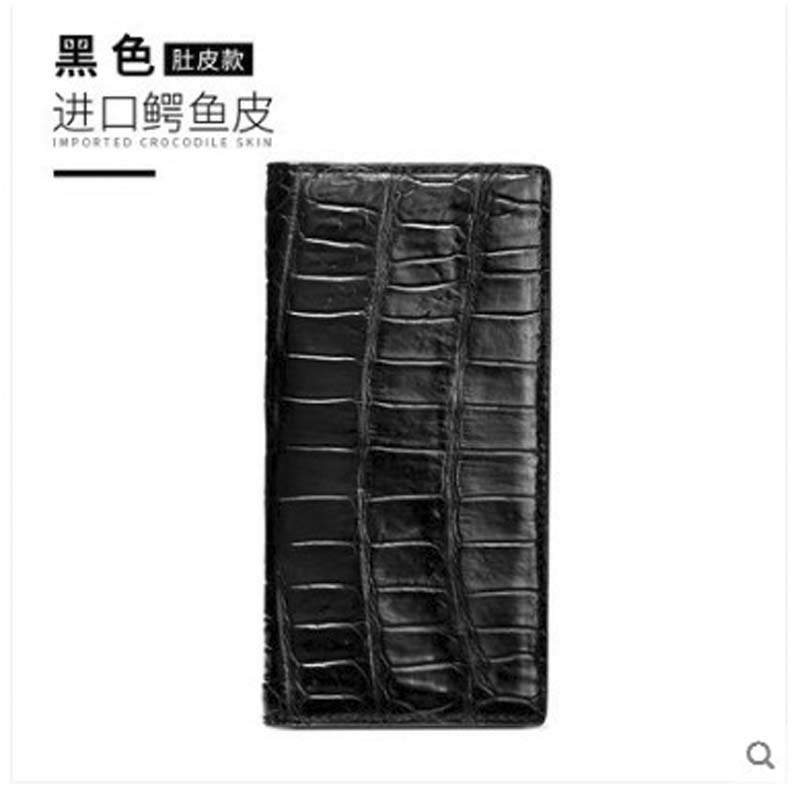 yuanyu Crocodile leather wallet mens long style imported crocodile leather wallet ultra-thin multi-clip crocodile leather bagyuanyu Crocodile leather wallet mens long style imported crocodile leather wallet ultra-thin multi-clip crocodile leather bag