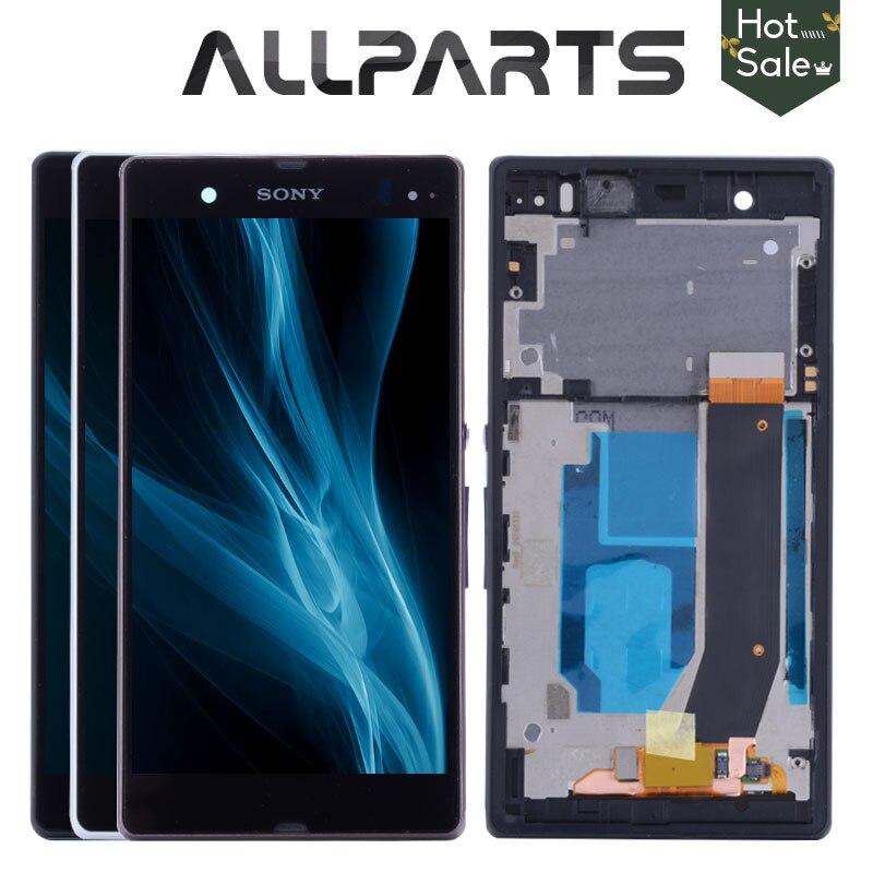 Exibição ORIGINAL Para SONY Xperia Z LCD Digitador Da Tela de Toque Com Frame Para O SONY Xperia Z L36H C6603 C6602 LCD