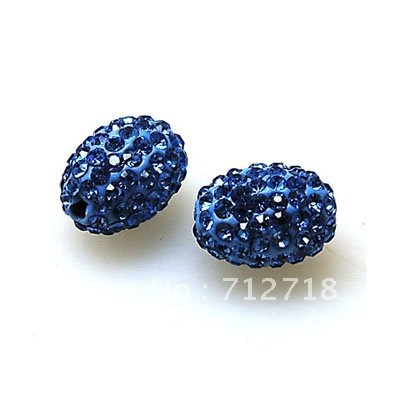 Jewelry & Accessories Beads & Jewelry Making Brilliant Bead,polyclay And Crystal,9*13mm Oval Pave Beads,lt Blue Color,sold 20 Pcs Per Package Limpid In Sight
