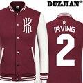 DUZJIAN Primavera nueva chaqueta ocasional Cavaliers Kyrie Irving hombres baratos chaquetas de invierno abrigo masculino chaqueta de la universidad chaqueta de los muchachos hip hop