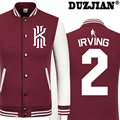 DUZJIAN Spring new casual jacket Cavaliers Kyrie Irving cheap men winter jackets male coat college jacket boys jacket hip hop