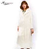 M Y FANSTY 2018 Imports Denmark Velvet Mink Fur Women S Mink Coat Sashes Real Fur
