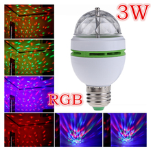3W Colorful Auto Rotating RGB Led Spotlight Auto Rotating Lighting for Holiday/KTV/Bar/Disco Led Bulb Lamp Lighting AC85-265V