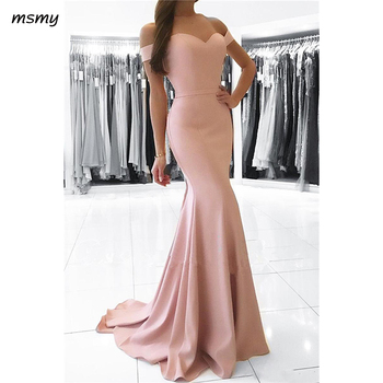 Elegant Evening Dresses Mermaid Floor Length Off Shoulder Long Prom Dressess Sweetheart Sweep Train  Evening Gowns Custom Made