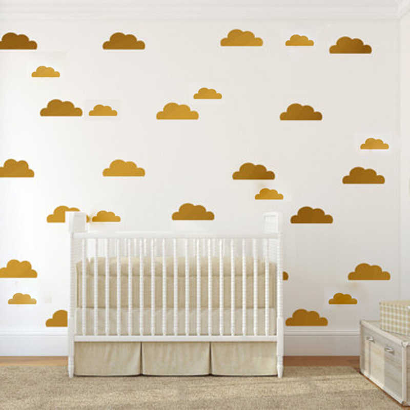 38pcs Clouds and Stars Mini Sticker For Baby Room Decorative DIY Tiny  Art Mural Vinyl Wall Decal Childrens Room Nursery Decor