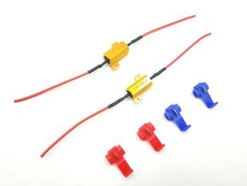2 #215 25 W 6ohm Led rezystor obciążenia H1 H3 H4 H7 H8 H11 9005 9006 1156 1157 reflektor hid DRL światła przeciwmgielne okablowania Canceller dekodowania GLOWTEC tanie i dobre opinie Drut Miedziany TPE PO Cables Adapters Sockets 35W 55W 75W 100W plastic metal for D1S D1R D1C Xenon HID headlight bulb ballast