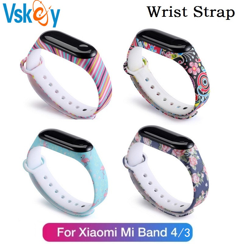 VSKEY 10PCS Wrist Strap for Xiaomi Mi Band 4 Bracelet Silicone Smart Wristband Bracelet for Xiaomi Mi band 3 Replacement Strap
