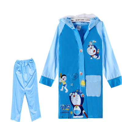 Bit Boy raincoat rain pants plus Children raincoat with bag / sets baby girl nursery students rain gear