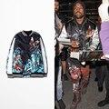 2016 de La Moda Otoño Chaqueta de Tigre de Impresión Kanye West Y el Águila de Béisbol Para Hombre de Hip Hop Chaqueta de Abrigo