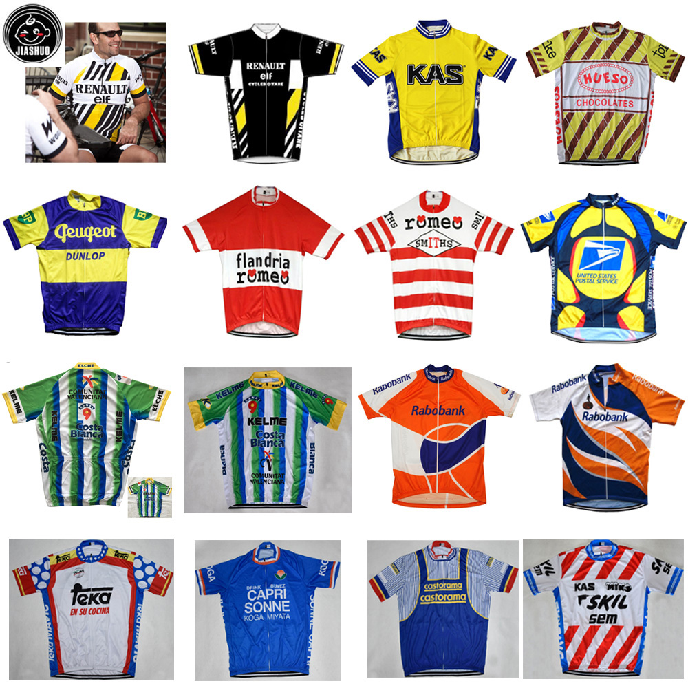 Classical Retro NEW Mountain Road RACE Team Bike Cycling Jersey Tops Breathable Customized Jiashuo Multi Styles Colors