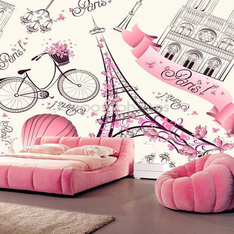 Large wallpaper murals,Romantic travel in Paris,modern murals for kids room living rooms sofa backgrounds papel de parede