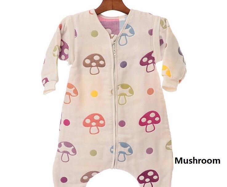 Child Baby Sleeping Bag 6 layers Thick Muslin Kids Sleepsacks Baby 100% Cotton Soft Sleep ware Infant Bebe Sleepsacks Envelope