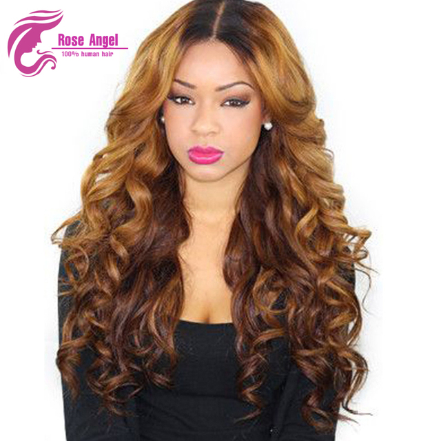 Ombre Lace Wig 150 Density Lace Wig For Black White Women Two Tone