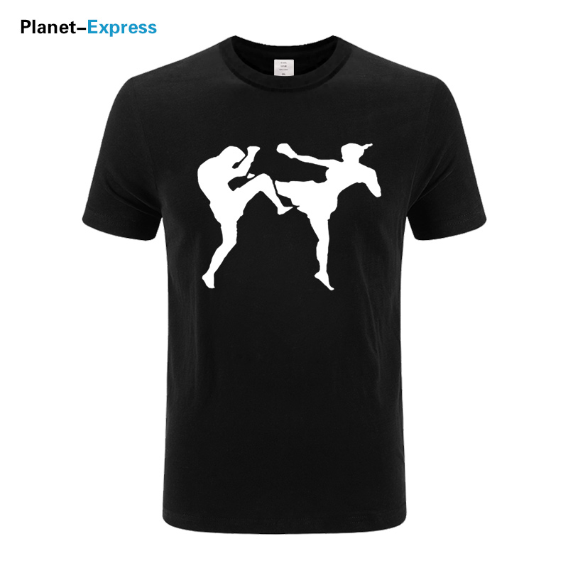 New Fashion Kickboxing Combat MMA T Shirts 2019 Summer Short Sleeve O-Neck Cotton Men Fashion T-shirt Plus Size Xs-3xl