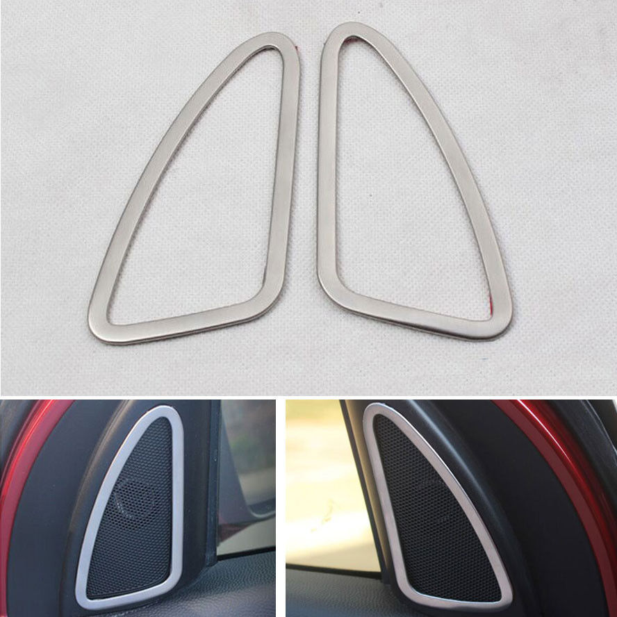 BBQ@FUKA 2x Car Door Stereo Loud Sound Stereo Speaker Decoration Cover Frame Ring Styling Sticker Fit For Hyundai ix35 2010-2014