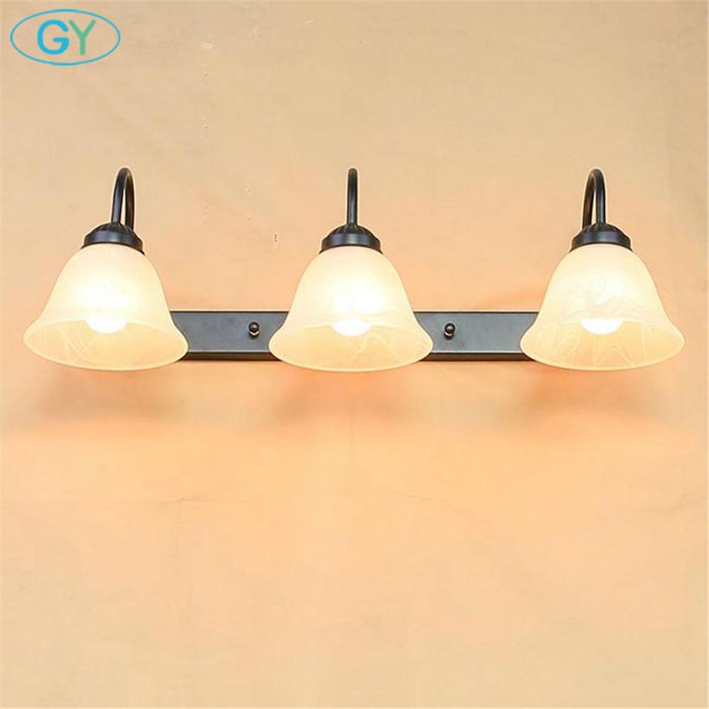 AC110V 220V 240V vintage 3 pièces E27 ampoule LED avant miroir lumière moderne salle de bain vanité mural LED luminaire - 3