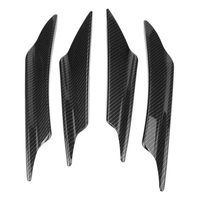 Best Buy 4pcs Carbon Fiber Car Front Bumper Splitter