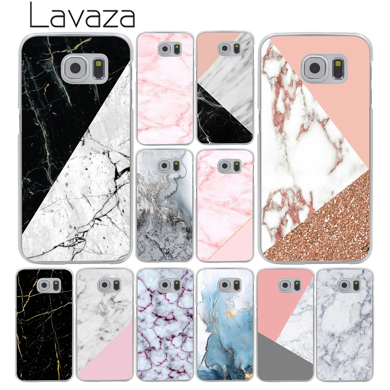 Lavaza gold marble collage Fashion Hard Phone Shell Cover Case for Samsung Galaxy S9 S8 Plus S3 S4 S5 S6 S7 Edge S9 Plus Cover