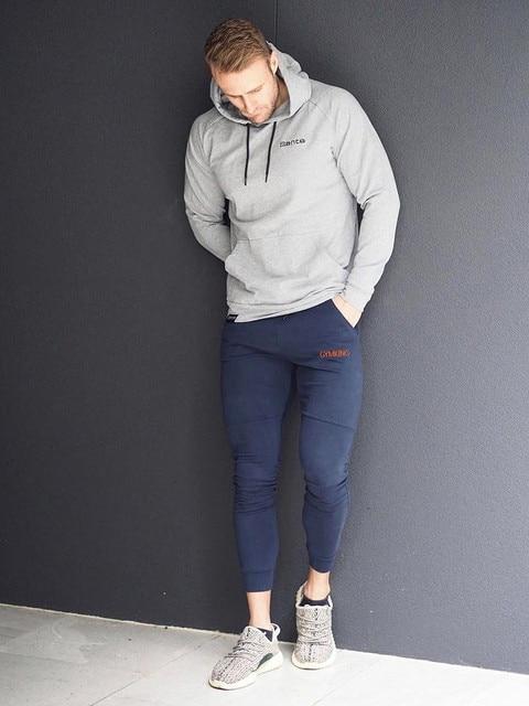 Fashion Mens Joggers Pants Skinny Casual Trousers Pants Top Quality Men Sweatpants 5
