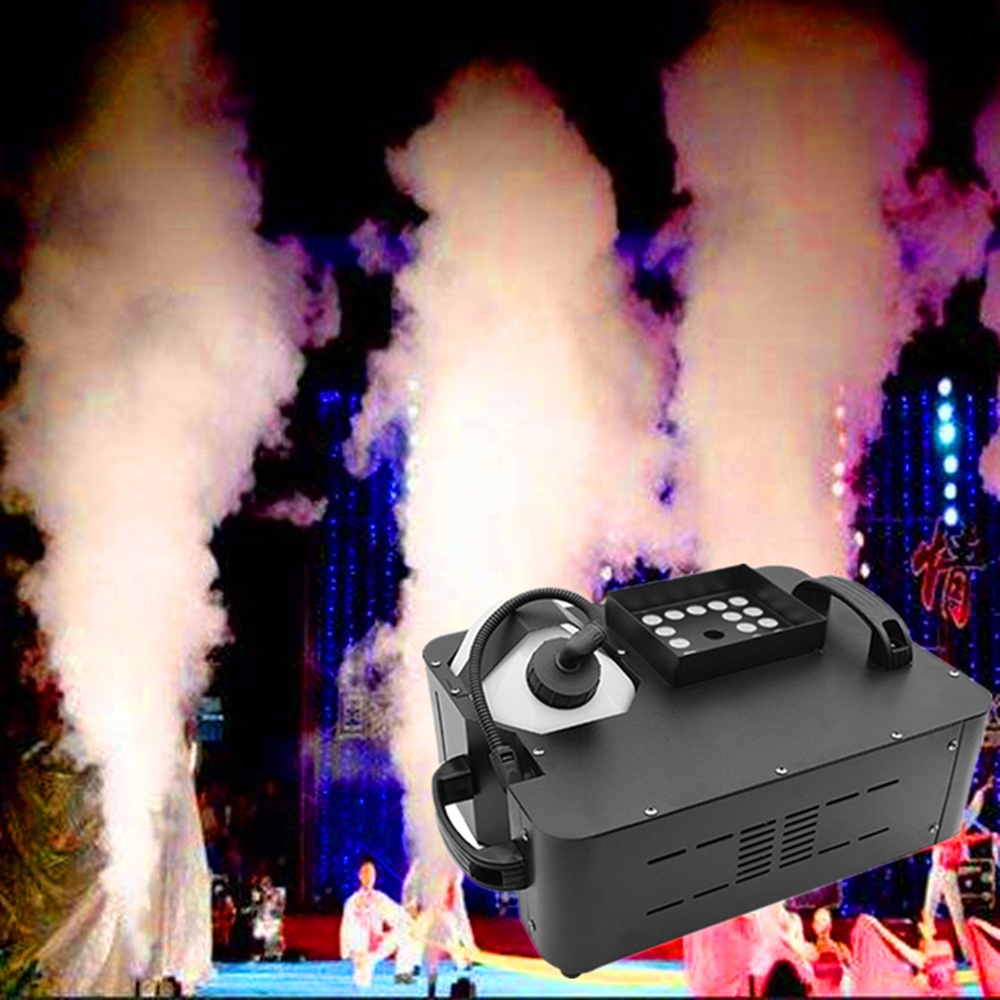 1500W LED Fog Machine/Wireless Remote DMX512 Smoke Machine With 24x9W RGB LED Lights/Professional Stage Pyro Vertical LED Fogger