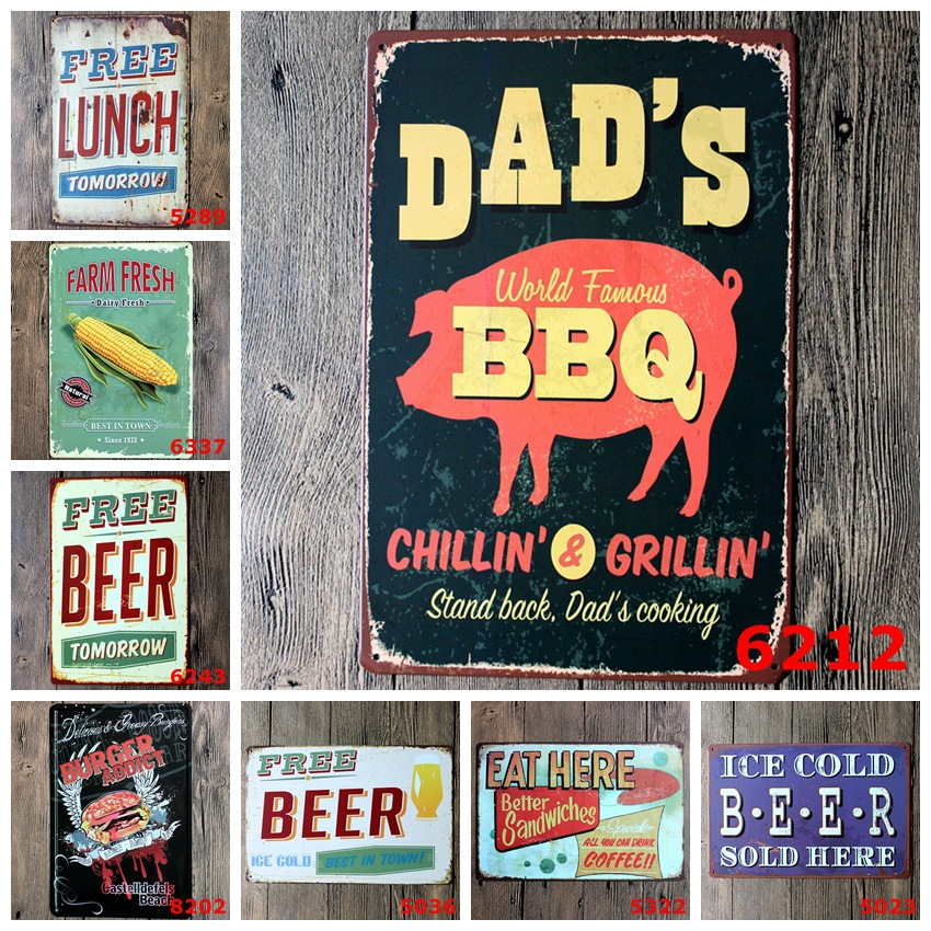 Wall Stickers 20*30CM Poster Home Decor BEER WINE CHEERS ...