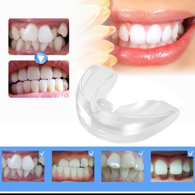 Los dientes de ortodoncia aparatos entrenador alineación soportes de higiene Oral Dental equipos de seguridad de silicona eléctrico cepillo de dientes