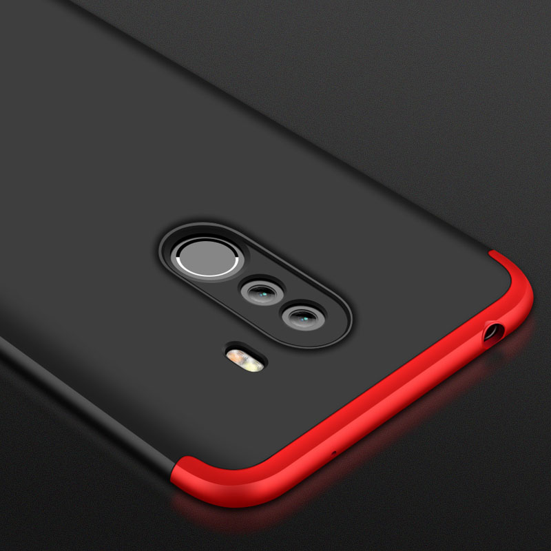 For Xiaomi Pocophone F1 Luxury 3-IN-1 Case 360 Degree Full Shockproof Frosted Shield Hard Back Cover Case For Xiaomi PocophoneF1 (12)